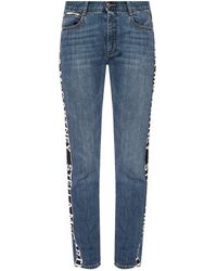 Stella McCartney Side-stripe Jeans - Blauw