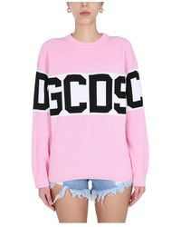 Gcds Crew Neck Pullover - Roze