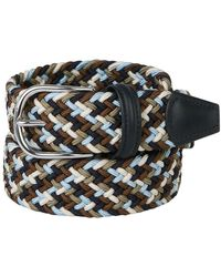 Santa Eulalia Braided Belt Leather Details - Bruin
