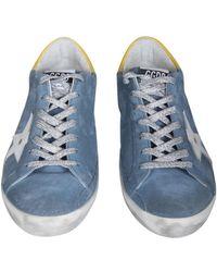 Golden Goose Deluxe Brand Super-star Sneakers - Blauw
