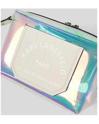 Karl Lagerfeld Hologram Washbag Blanco