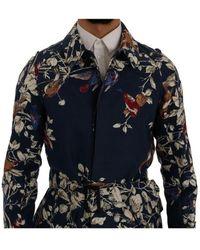 Dolce & Gabbana Escudo de aves Trench Azul