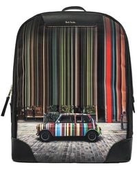 Paul Smith Printed backpack - Negro