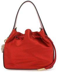 Versace Medusa Plaque Detailed Mini Bucket Bag - Rood