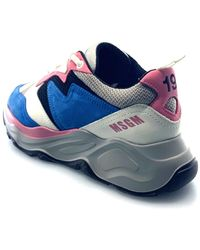 MSGM Mds2086 704 Sneakers Azul