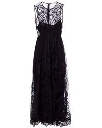 RED Valentino Embroidered Lace Dress - Zwart