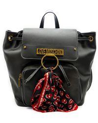 Love Moschino Backpack With Scarf - Zwart