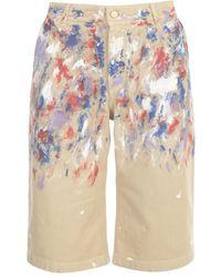 Philosophy Di Lorenzo Serafini Cotton Printed Shorts - Naturel