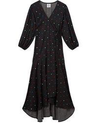 Zoe Karssen Dora wrap dress with print - Schwarz