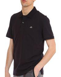 C.P. Company Piquet Polo Shirt - Zwart
