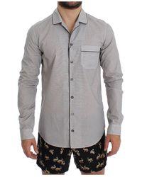 Dolce & Gabbana Cotton Pajama Shirt Nachtkleding - Wit