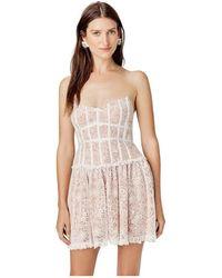 For Love & Lemons Jelena Strapless Dress - Wit