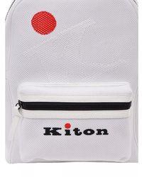 Kiton Zaino Ubfitkn008200 - Blanc