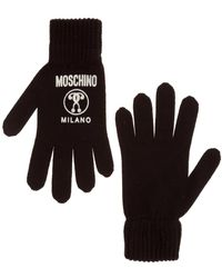 Moschino Wool Gloves - Zwart