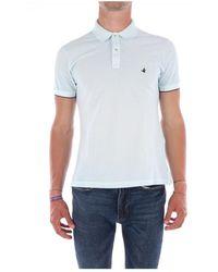 Brooksfield T-shirt Polo Men 201a.a049 - Blauw