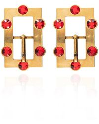 Balenciaga Logo Earrings - Geel