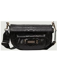 Clio Goldbrenner Neptune Python Effect Leather Bag - Zwart
