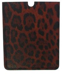 Dolce & Gabbana Leopard Leather Ipad Cover Bag - Rood