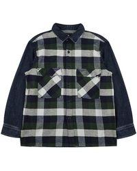 Edwin Shirt check - Bleu