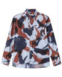KENZO Camo Brushed Shirt - Bruin