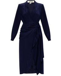 Étoile Isabel Marant Wrap Dress - Blauw