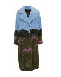 Ottod'Ame Coat Dg5586 12 - Blauw