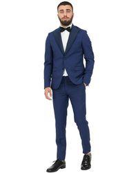 Alessandro Dell'acqua Suit - Blauw
