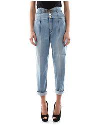 Pinko Ariel 2 Bustier Jeans - Blauw