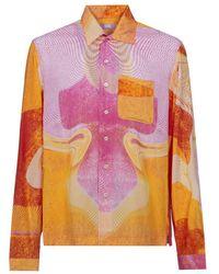 ERL Shirt Woven - Roze