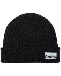 Ganni - Hoed Logo - Lyst