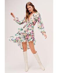 For Love & Lemons Bailey Dress Blanco