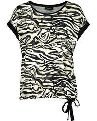 Monari Tshirt Grafisch 405501 - Zwart