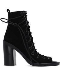 Ann Demeulemeester Heeled Ankle Boots - Zwart