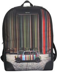 Paul Smith Mini print backpack - Negro