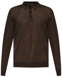 Giorgio Armani Wool sweater Marrón