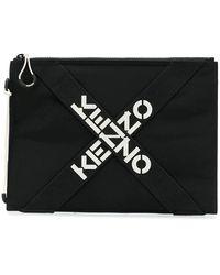 KENZO Logo Clutch Bag - Zwart