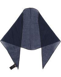 Ermenegildo Zegna Striped Scarf - Blauw