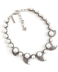 Oscar De La Renta Vintage Collier de perles - Gris