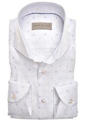 John Miller Tailored Fit Shirt - Wit