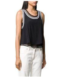 Calvin Klein J20j213621 Tank Mesh T Shirt And Tank Women Black - Zwart