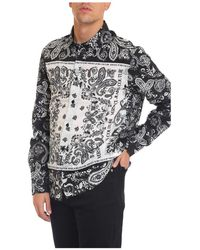 Versace - Camicia bandana - Lyst