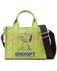 Marc Jacobs Peanuts The Mini Snoopy Tote Bag - Groen
