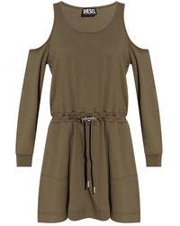 DIESEL Long Sleeve Dress - Groen