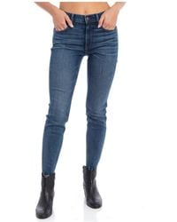 Eastpak Jeans Tompkins MID Rise Skinny Crop - Blu