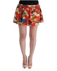 Dolce & Gabbana Bloemenprint Beachwear Rok - Rood