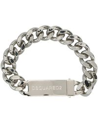 DSquared² Logo Bracelet - Grijs