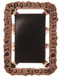 Midgard Paris Black Mirror brass ring - Schwarz