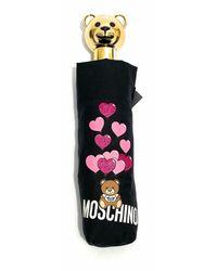 Moschino Ombrello retraibile open / close Ballons Bear O20Mo25 - Nero