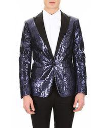 DSquared² Sequins Tuxedo Jacket - Blauw