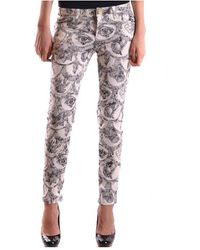 Frankie Morello Marchio Trousers - Wit